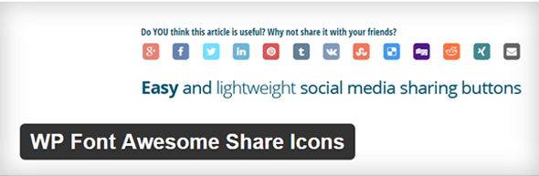 WordPress-WP-Font-Awesome-Share-IconWordPress-Plugins